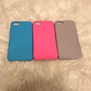 Brand NEW! 3 Piece Soft Silicone iPhone 7/8 Case
